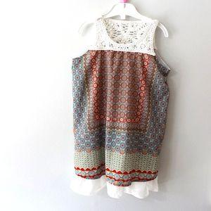 Coco + Carmen Sleeveless Boho Summer Dress 6-7